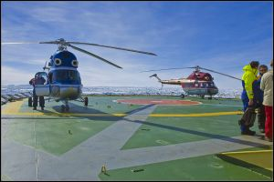 Helicopters aboard ship