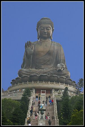 The Giant Buddha, Lantau Island, Hong Kong