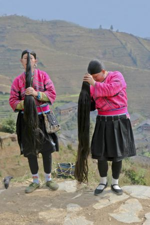 Women of Yao Minority (Longhair Tribe)