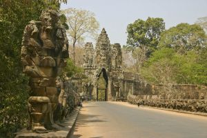 Entrance to the Bayon Temple built 12th century