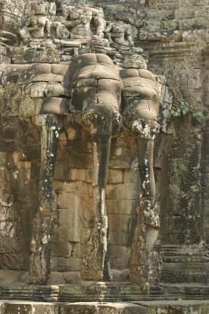 Part of the wall of Angkor Thom