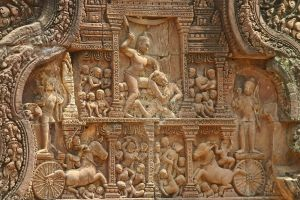 Intricate bas relief carvings