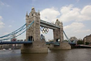 Tower bridge during 2012 Olympics