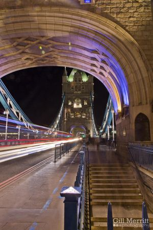 Under Tower bridge