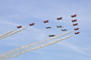 Red Arrows with Eagle Squadron