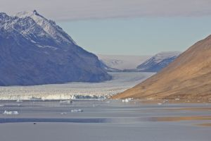 Glacier and Greenland cap