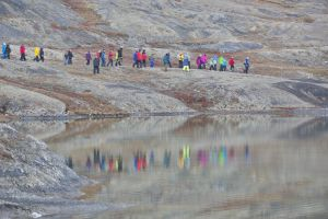 Reflections in glacial lake