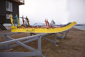 Sleds made by the Sirius dog patrol members in Daneborg