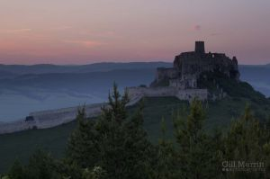 Spis Castle at sunset