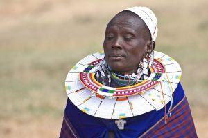 Masai woman from East Africa