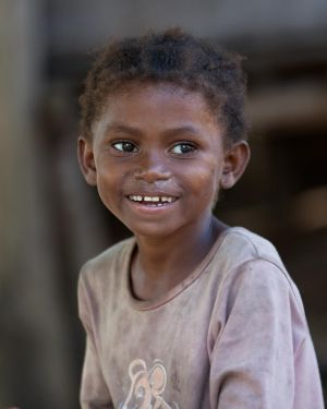 Madagascar village child